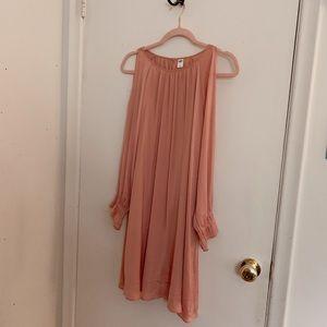 Old navy blush pink cold shoulder mid length dress
